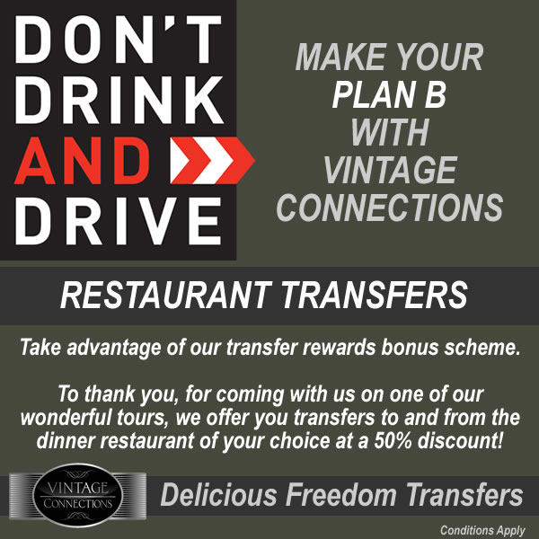 Don't Drink and Drive - 50% off Restaurant Transfers